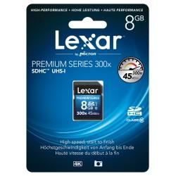 Carte SD HC 8 Gb 300x Premium Lexar
