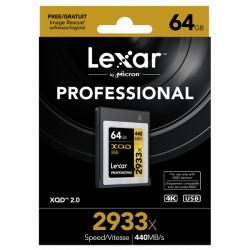 XQD64GB 2933X Professional LEXAR avec lecteur USB 3.0