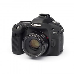 Coque silicone pour Canon 80D noir