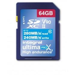 INTEGRAL - SDHC 64GB Class 10 U3 - 280/240MB/s - V90