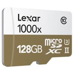 MicroSDXC 128GB 1000x LEXAR Class 10 UHS-II