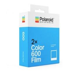 Pack 2 x 8 poses couleur cadre blanc pour appareils instantanés Polaroid 600