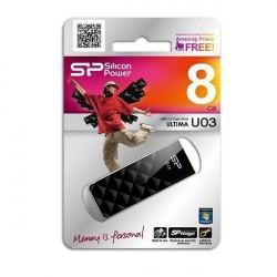 Clé USB Silicon Power ULTIMA U03 8GB Noire