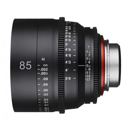 Xeen 85mm T1.5 MFT / echelle en METRE (m)