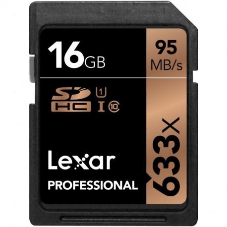 Carte SDXC 16 Gb 633x Professional UHS-1 U1 Lexar