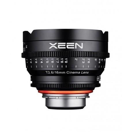 Xeen 16mm T2.6 Sony E / echelle en METRE (m)