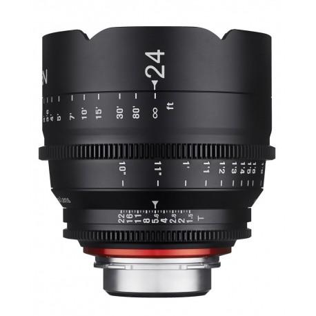 Xeen 24mm T1.5 Canon EF / echelle en PIED (ft)