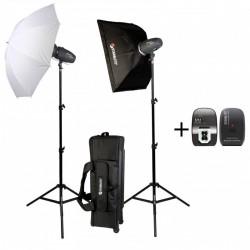 Starblitz SHARK200KIT Kit studio 2x 200 watts sec