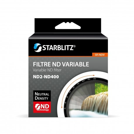 Filtre 82 mm ND variable (ND2-ND400) Starblitz