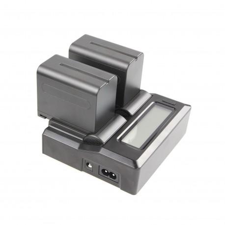 Double chargeur universel avec écran LCD - Plaques vendues séparément