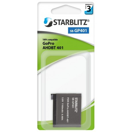 Batterie compatible GoPro AHDBT-401