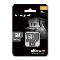 Micro SDHC 4 GB Classe 10 avec adaptateur